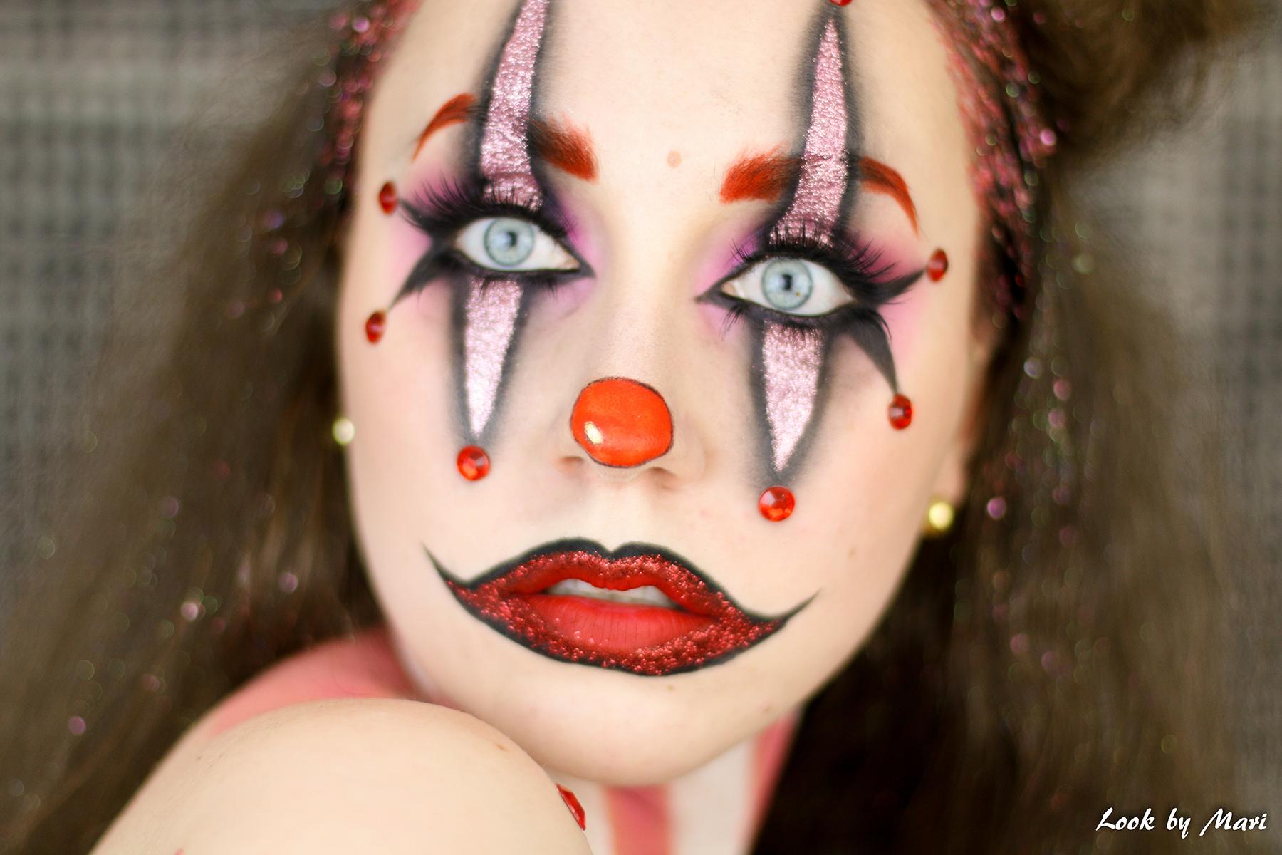 Halloween Makeup Easy Clown.Halloween Clown Makeup Tutorial 2017 Look By Mari