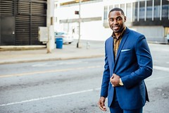 Freelancer Blue Suit - Business B2B African American