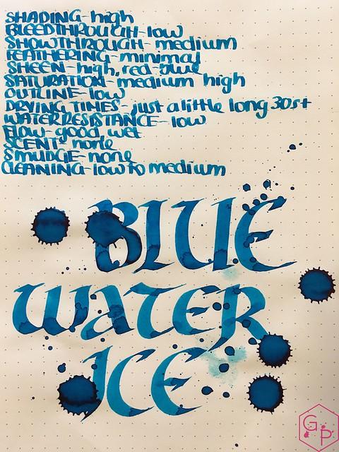 Ink Shot Review @RobertOsterInk Blue Water Ice @MilligramStore 1