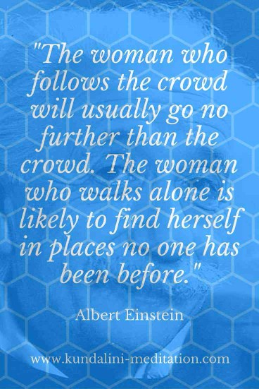 The woman who follows the crowd