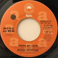 MINNIE RIPERTON:INSIDE MY LOVE(LABEL SIDE-B)