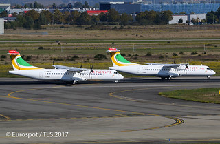 F-WWEZ & F-WWET Both ATR72 for Senegal.