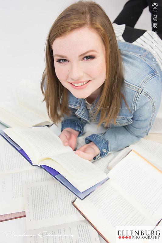 Senior Girl with Books