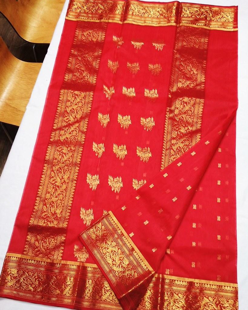 134fa1496d2 ... Authentic Handwoven Chanderi Pure Katan Silk Saree  diwali  festive   designer  collection Rs