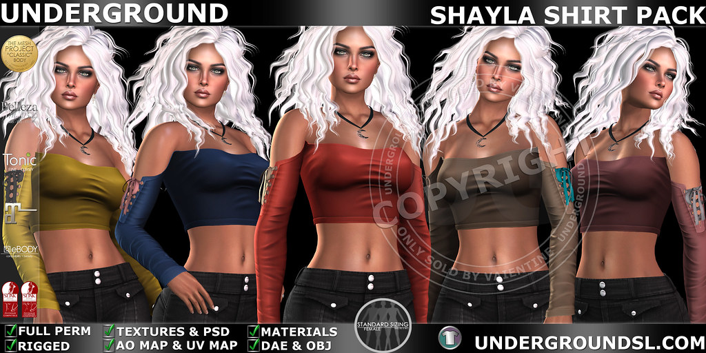 UG MESH SHAYLA SHIRT PACK MP