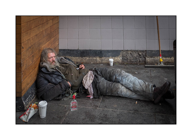 Homeless Man, Brixton, South London, England.