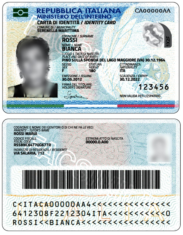 Noicattaro. Carta d'Identità Elettronica intero2