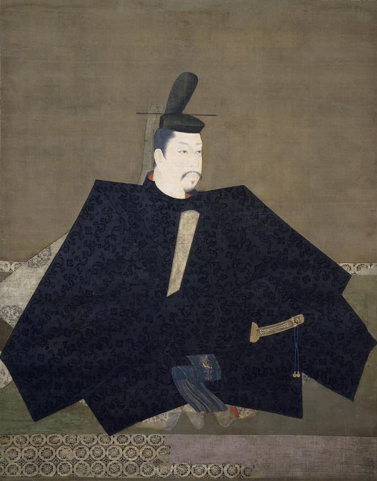 国宝《伝源頼朝像》(鎌倉時代・13世紀、京都・神護寺)