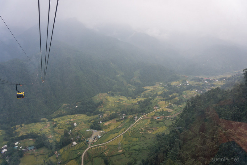 Sapa, Fansipan - view from cable car