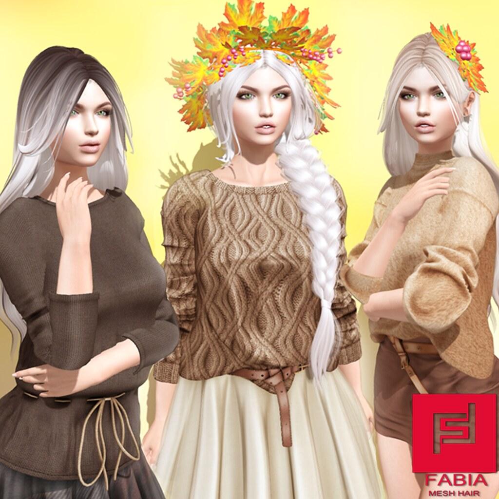 -FABIA- Mesh Hair  <Amelia/Olivia/Emili> - TeleportHub.com Live!