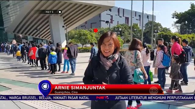 Liputan Perpustakaan Terbesar Di Guangzhou, China Tayang di NET TV