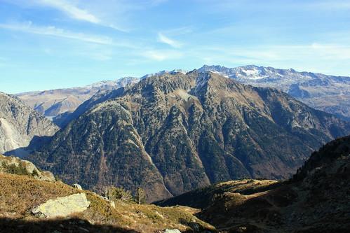 Le Rissiou au 1er Plan devant le massif des Grandes-Rousses
