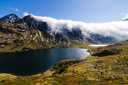 rakousko österreich austria at štýrsko steiermark alpy alpen unterer oberer giglachsee hory mountains krajina landscape jezero lake niedere tauern
