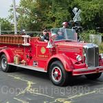 Demarest NJ Antique Fire Truck, 2017 Northern Valley Fire Chiefs Parade, Northvale, New Jersey