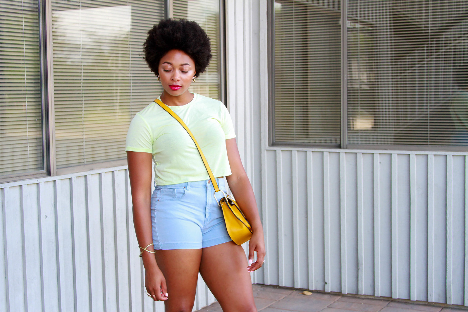 how to style a neon crop top