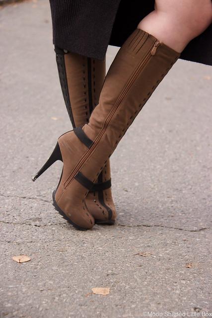 Boots stilettoheels brown boots ruskeat saappaat Syystyyli fashion blog styleblog blogger tyyliblogi muoti