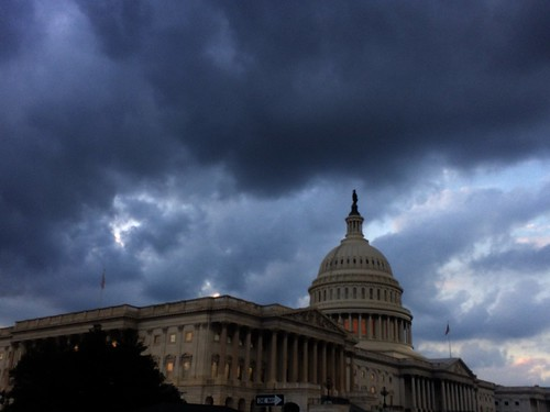 Dark clouds over the Capitol