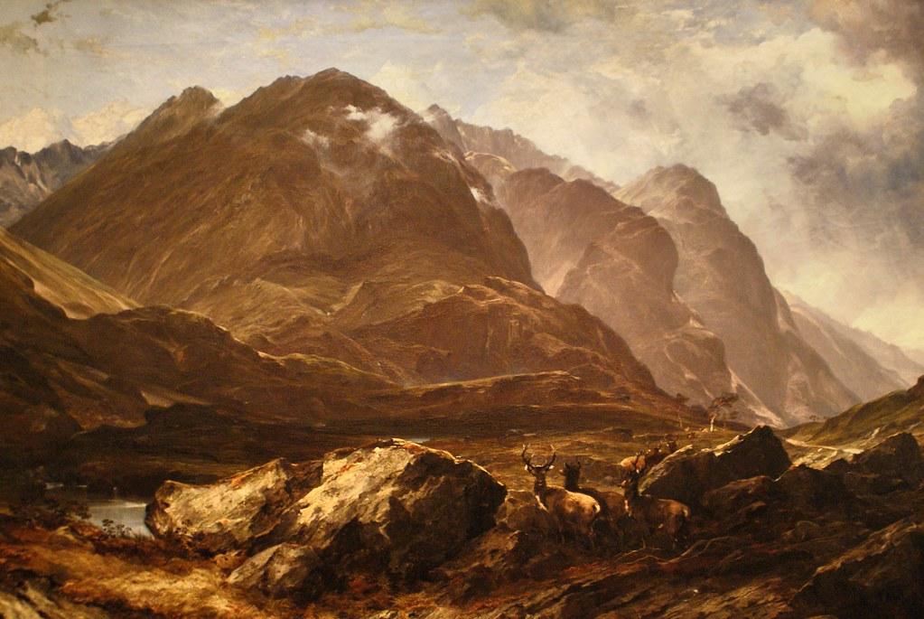 Paysage écossais au musée Kelvingrove de Glasgow. De Horatio McCulloch (1864)