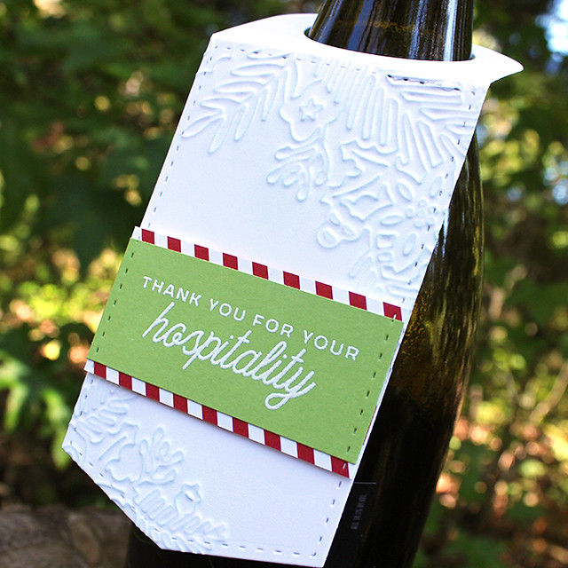 Christmas Hospitality Wine Tag 2