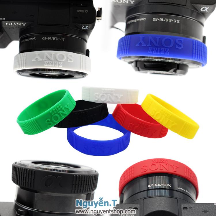 Vòng cao su lens ống kính SONY chữ nổi nhiều màu