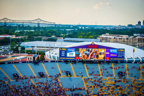 Baton Rouge Views from top of Tiger Stadium