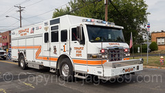 Tenafly NJ Rescue Fire Truck, 2017 Northern Valley Fire Chiefs Parade, Northvale, New Jersey