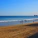 Jinetes del mar en la playa de Ondarraitz