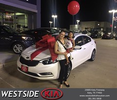 Happy Anniversary to Ana on your #Kia #Forte from Luis Espinoza at Westside Kia!