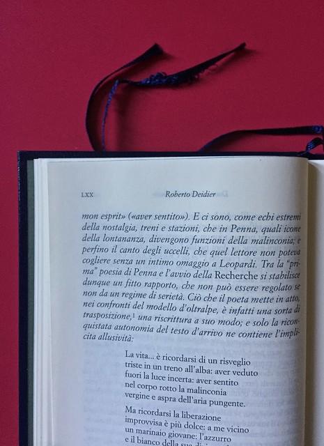 Sandro Penna, Poesie, prose e diari. Mondadori, i Meridiani; Milano 2017. Resp. gr. non indicata. Indicazione dell'autore degli apparati: centrato, in capo al testo: a pag. LXX. [part.].