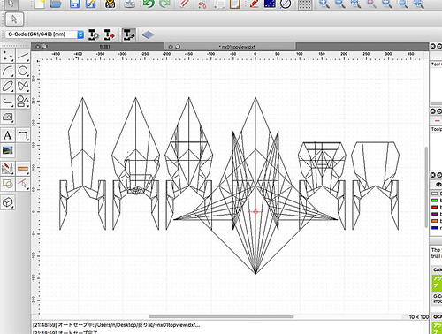 Drawing databases of origami spaceships