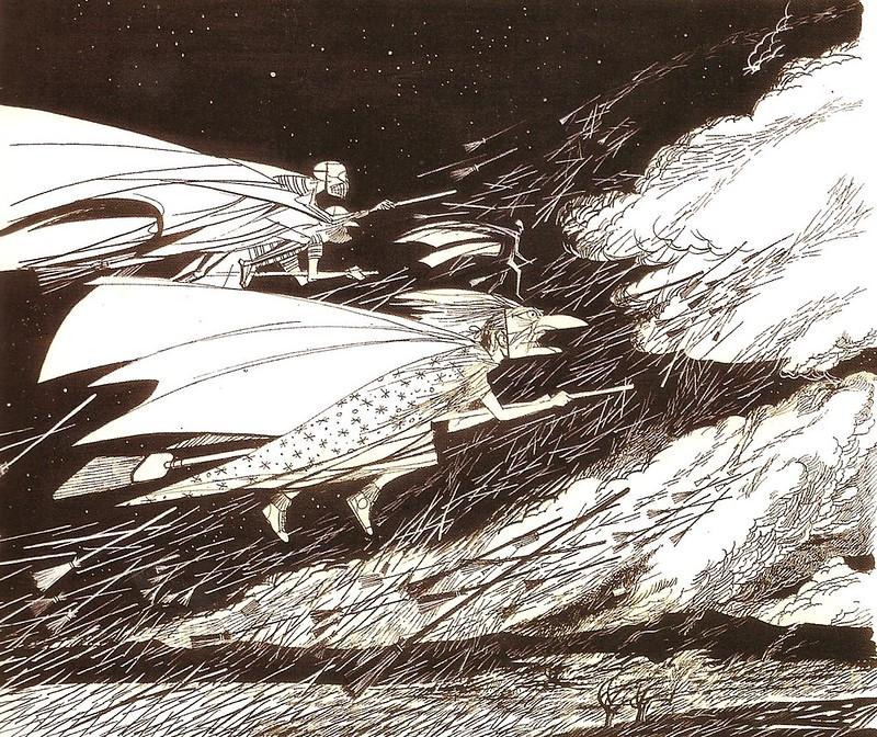 Joseph Mugnaini - Witch illustration from  The Halloween Tree, by Ray Bradbury, 1972