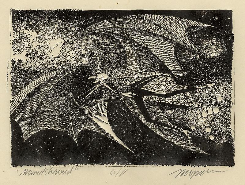 "Joseph Mugnaini - Mr. Moundshroud,  interior art for ''The Halloween Tree""  1972"