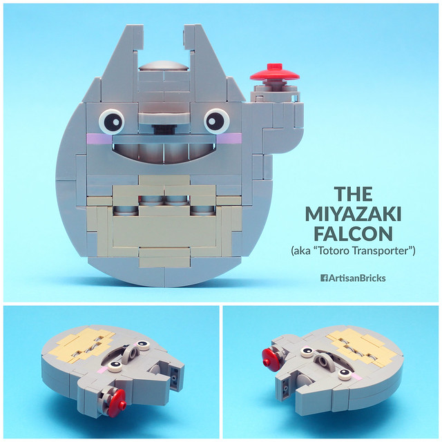 Artisan Bricks by Jeffrey Kong - LEGO Miyazaki Falcon aka Totoro Transporter - for Brothers Brick Millennium Falcon Contest