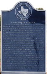 Photo of Joseph Alfred Woolfolk black plaque