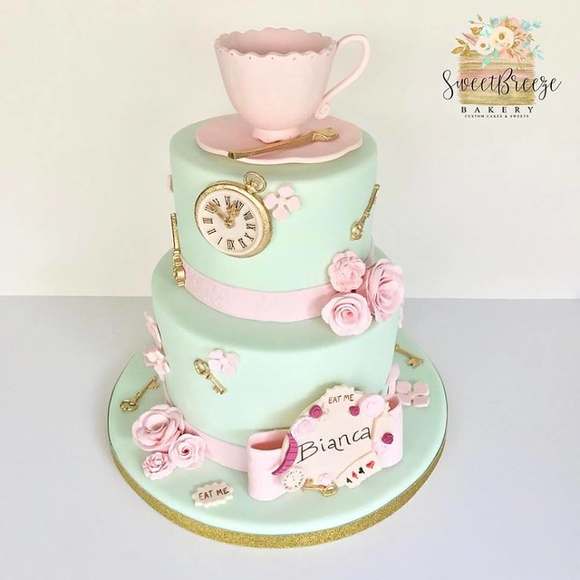 Alice in Wonderland Themed Cake by Sweet Breeze Bakery