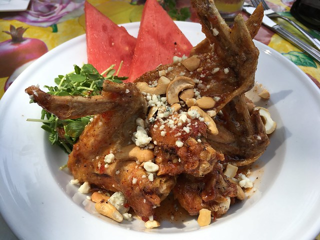 Watermelon and wings - The Beauty Shop Restaurant