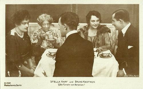 Stella Harf and Bruno Kastner in Die Fürstin von Beranien (1918)