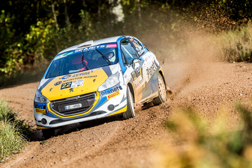 22 Zawada Aleksander and Dachowski Grzegorz, Peugeot 208 R2 ERC Junior U27 action during the 2017 European Rally Championship ERC Liepaja rally,  from october 6 to 8, at Liepaja, Lettonie - Photo Thomas Fenetre / DPPI