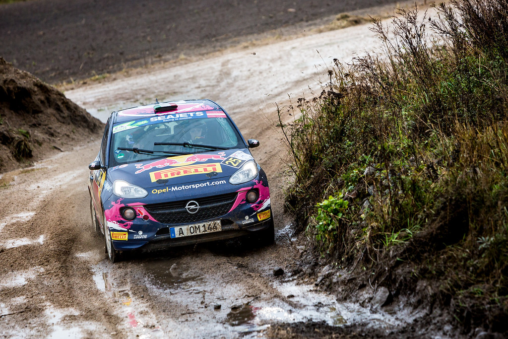 25 Molinaro Tamara, Opel Rallye Junior Team, Opel Adam R2 ERC Ladies ERC Junior U27 action during the 2017 European Rally Championship ERC Liepaja rally,  from october 6 to 8, at Liepaja, Lettonie - Photo Thomas Fenetre / DPPI