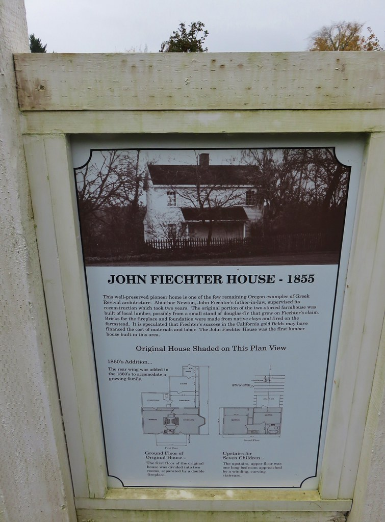 Interpretive sign at the Fletcher House