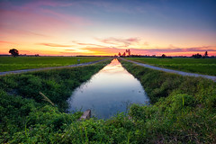 View of paddy field during sunset_DSC7245_1r