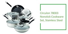 Stainless Steel Cookware Set Review : Circulon 78003 11 Piece Momentum Nonstick Stainless Steel Cookware Set Review