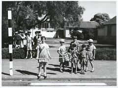 Hamilton, School Patrol outside Melville School
