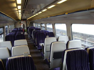 Interior of class 158 diesel multiple unit