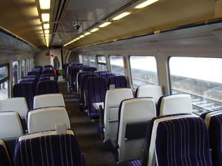 Interior of class 158 diesel multiple unit