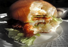 Homemade – Simple Crispy Chicken Burger with Sweet Sour Sauce [4000×3000]