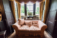 Comfy sofa in the Oak Room