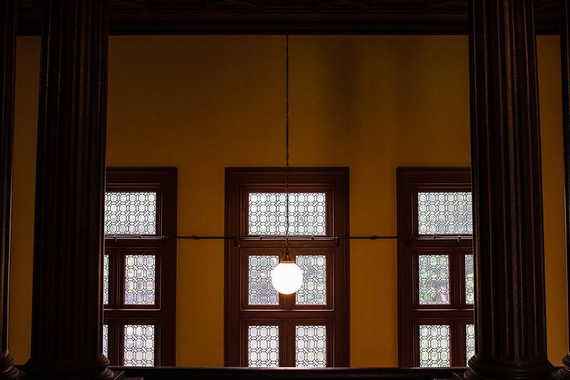 旧岩崎邸2階から見える窓