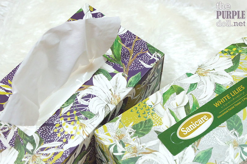 Sanicare White Lilies Unscented 3-Ply Facial Tissue