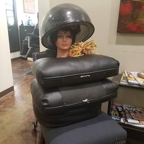 #wig prep for #Halloween 🍊 #Elvis is in the building!